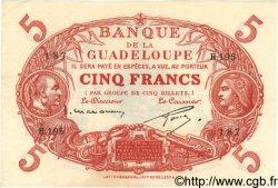 5 Francs GUADELOUPE  1934 P.07 SUP+