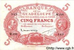 5 Francs GUADELOUPE  1934 P.07 pr.SUP