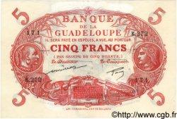 5 Francs GUADELOUPE  1944 P.07 TTB