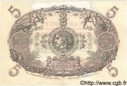 5 Francs Cabasson rouge GUADELOUPE  1944 P.07 TTB