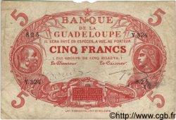 5 Francs GUADELOUPE  1944 P.07 B