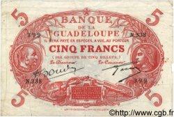 5 Francs GUADELOUPE  1944 P.07 pr.TB