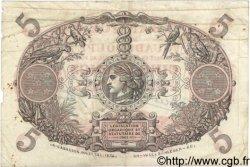 5 Francs Cabasson rouge GUADELOUPE  1944 P.07 pr.TB