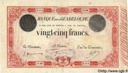 25 Francs rouge GUADELOUPE  1934 P.08 TTB
