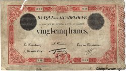 25 Francs rouge GUADELOUPE  1934 P.08 B+