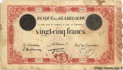 25 Francs GUADELOUPE  1934 P.08 B+