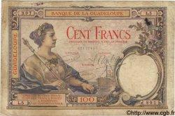 100 Francs GUADELOUPE  1934 P.16 B à TB