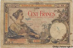 100 Francs GUADELOUPE  1932 P.16 B+