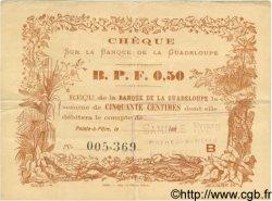 0,50 Franc GUADELOUPE  1890 P.20B TTB+