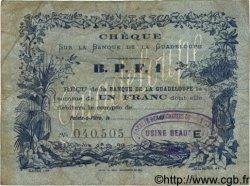 1 Franc GUADELOUPE  1890 P.20C TB