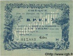 1 Franc GUADELOUPE  1900 P.20C SPL