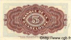 5 Francs GUADELOUPE  1942 P.21b pr.NEUF