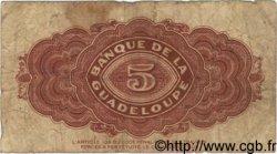 5 Francs GUADELOUPE  1942 P.21b B+