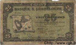 25 Francs GUADELOUPE  1942 P.22b AB
