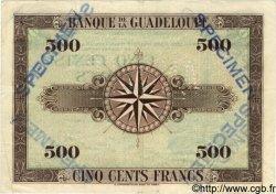 500 Francs GUADELOUPE  1942 P.24bs TTB