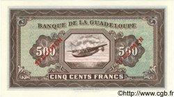 500 Francs GUADELOUPE  1942 P.25s NEUF