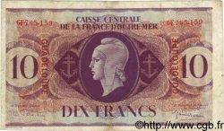 10 Francs GUADELOUPE  1944 P.27a TB