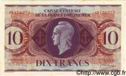 10 Francs GUADELOUPE  1944 P.27a pr.NEUF