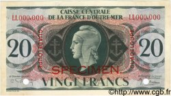 20 Francs GUADELOUPE  1944 P.28s SUP