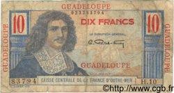 10 Francs Colbert GUADELOUPE  1946 P.32 AB