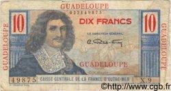 10 Francs Colbert GUADELOUPE  1946 P.32 B à TB