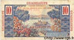 10 Francs GUADELOUPE  1946 P.32 TTB