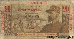 20 Francs GUADELOUPE  1946 P.33 B