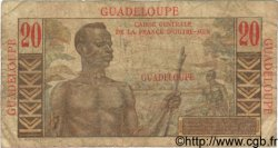20 Francs Émile Gentil GUADELOUPE  1946 P.33 B