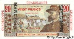 20 Francs Émile Gentil GUADELOUPE  1946 P.33s pr.NEUF
