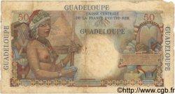 50 Francs GUADELOUPE  1946 P.34 B+