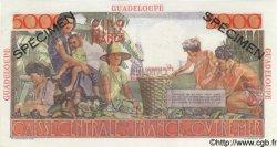 5000 Francs GUADELOUPE  1952 P.38s pr.NEUF