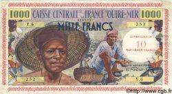 10 NF sur 1000 Francs pêcheur GUADELOUPE  1960 P.43 TTB+ à SUP