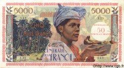 50 NF sur 5000 Francs antillaise GUADELOUPE  1960 P.44 SUP+