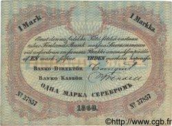 1 Markka FINLANDE  1860 P.A33a TTB+