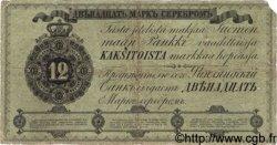 12 Markkaa FINLANDE  1862 P.A35a TB