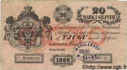 20 Markkaa FINLANDE  1862 P.A36c TB+