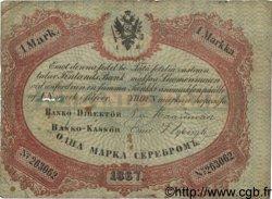 1 Markka FINLANDE  1867 P.A39Ab B à TB