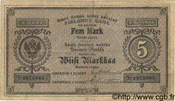 5 Markkaa FINLANDE  1878 P.A43b TB+
