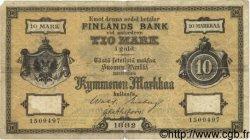 10 Markkaa FINLANDE  1882 P.A46b TB