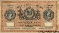 20 Markkaa FINLANDE  1883 P.A47b TTB