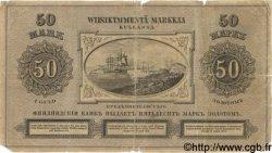 50 Markkaa FINLANDE  1884 P.A49 B à TB
