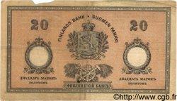 20 Markkaa FINLANDE  1894 P.A52b pr.TTB