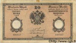 20 Markkaa FINLANDE  1894 P.A52b TTB