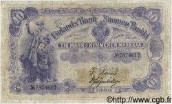 10 Markkaa FINLANDE  1898 P.003c TTB