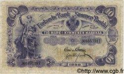 10 Markkaa FINLANDE  1898 P.003c TTB+