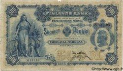500 Markkaa FINLANDE  1898 P.008c B à TB