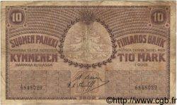 10 Markkaa FINLANDE  1909 P.010a pr.TB