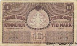 10 Markkaa FINLANDE  1909 P.010a TTB