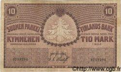 10 Markkaa FINLANDE  1909 P.010a pr.TTB