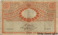 20 Markkaa FINLANDE  1909 P.011a B à TB